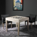 occasional game table white maple