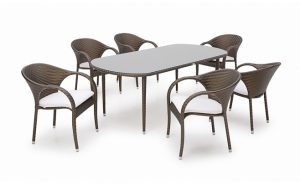 outdoor furniture fiesta 6 seater dining set