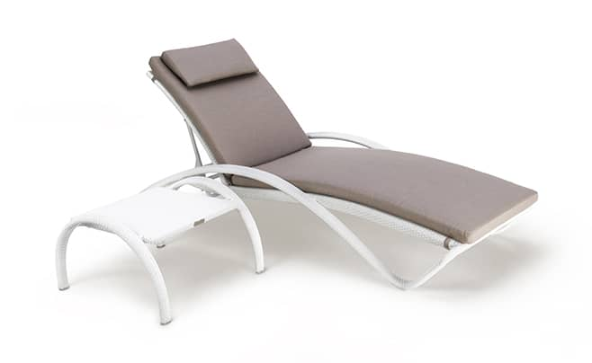 wave sunlounger wave white