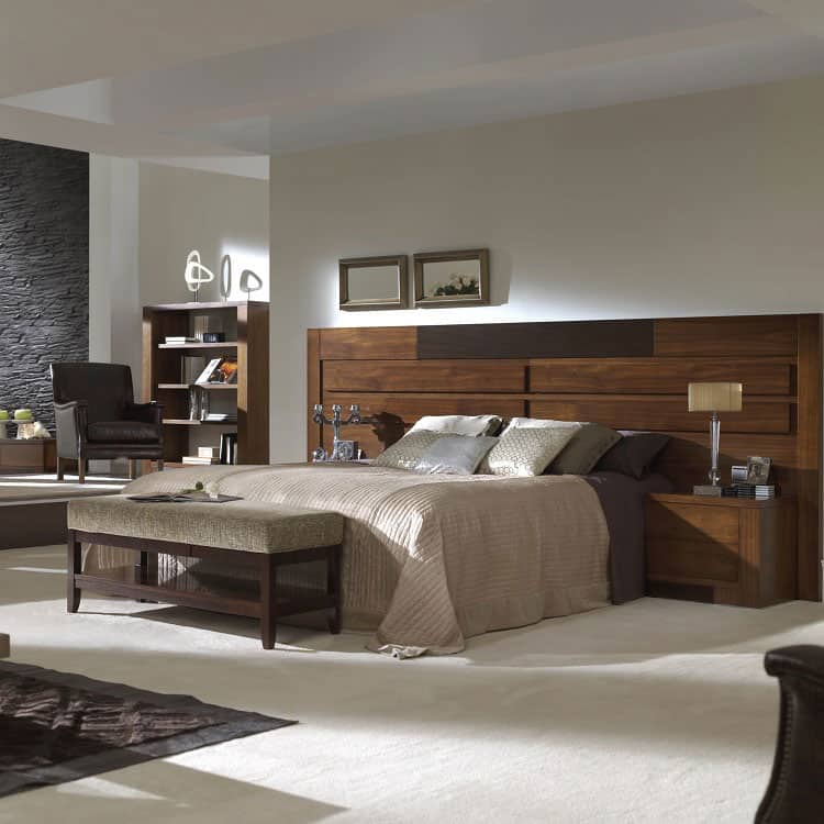 city bed walnut